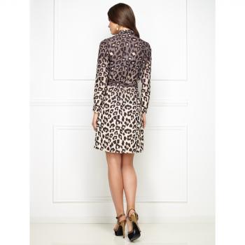 Леопардовая платье рубашка